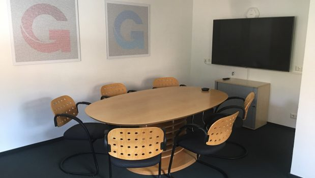 New Meeting Room with TV and new Logos